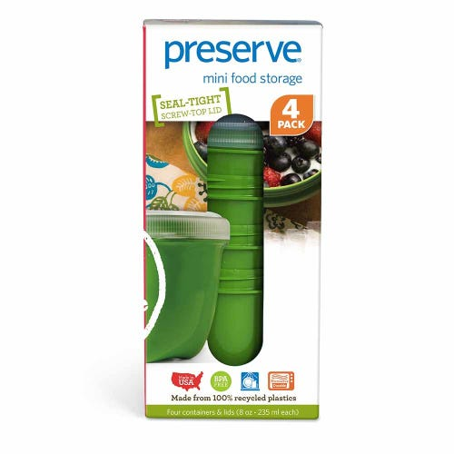 Preserve Food Container Mini 4 Pack - Green