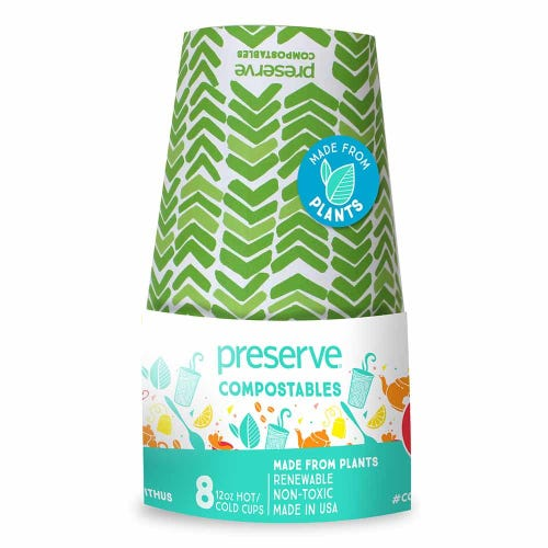 Preserve Compostable Cups - Green (8 Pack)