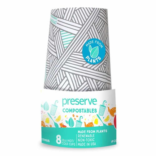 Preserve Compostable Cups - Natural (8 Pack)