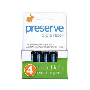 Preserve Triple Razor Replacement Blades - 4 Blades