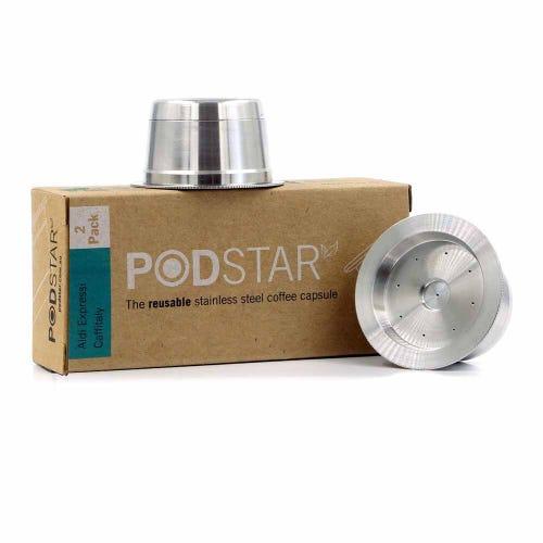 Pod Star Reusable Aldi K-fee Caffitaly Coffee Capsule Double