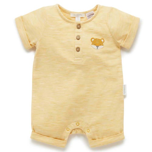 Purebaby Short Growsuit - Little Tiger