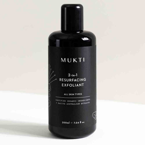 Mukti 2 in 1 Resurfacing Exfoliant (200ml)