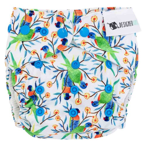 Designer Bums Reusable Nappy - Rainbow Folk