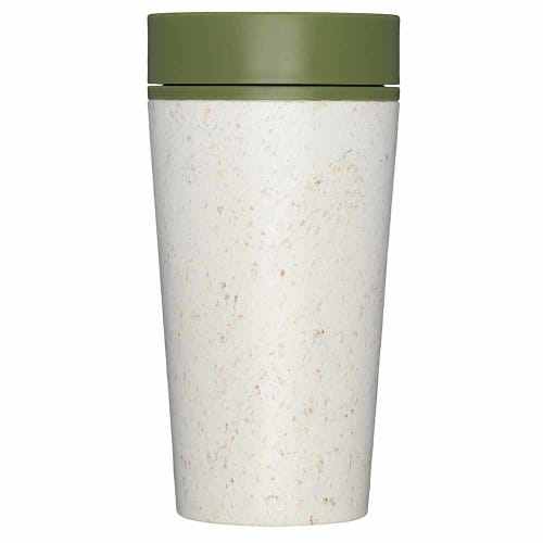rCup Reusable Coffee Cup Cream/ Green 12oz