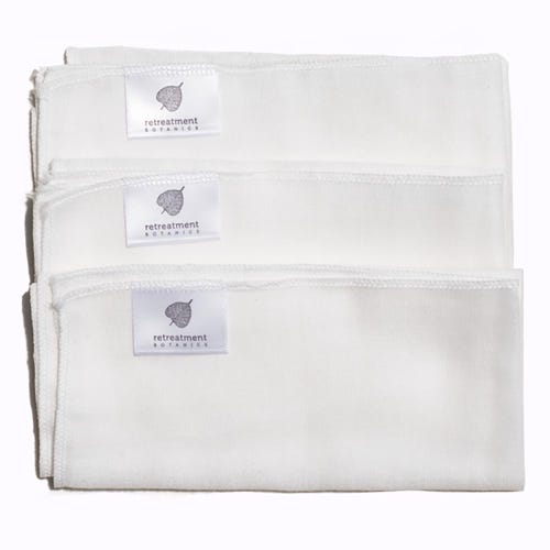Retreatment Botanics Organic Cotton Muslin Face Cloths