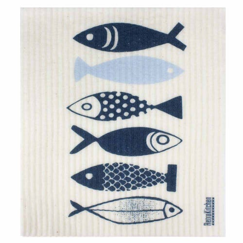 Retro Kitchen Biodegradable Dish Cloth Fish (1 Cloth)