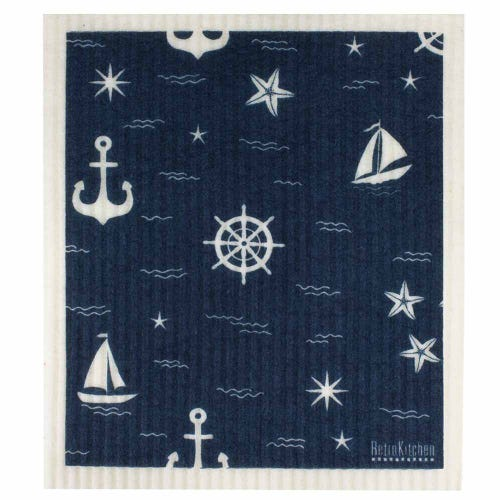 Retro Kitchen Biodegradable Dish Cloth Nautical (1 Cloth)