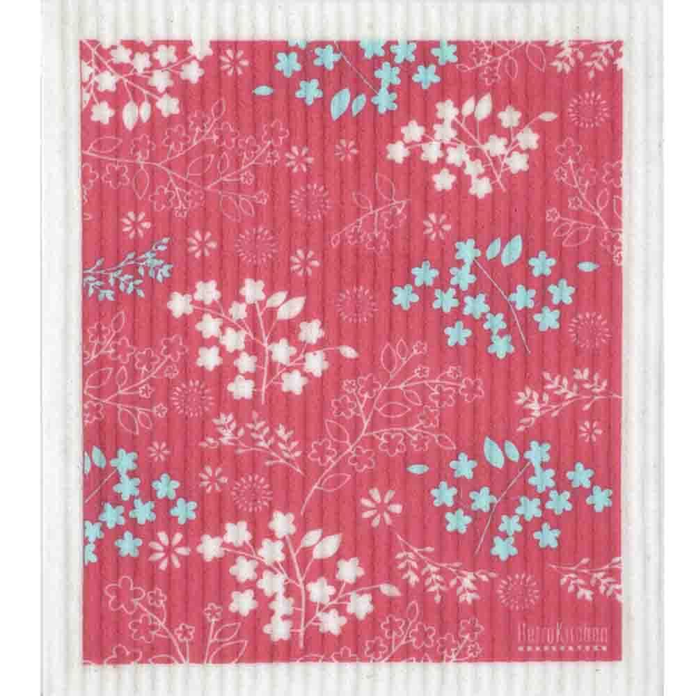 Retro Kitchen Dish Cloth Blossom