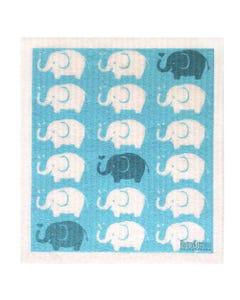 Retro Kitchen Biodegradable Dish Cloth Elephants (1 Cloth)