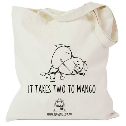 Canvas Shopping Bag It Takes Two To Mango