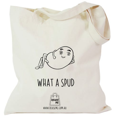 Canvas Shopping Bag What a Spud