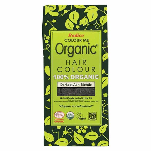 Colour Me Organic Hair Dye Darkest Ash Blonde (100g)