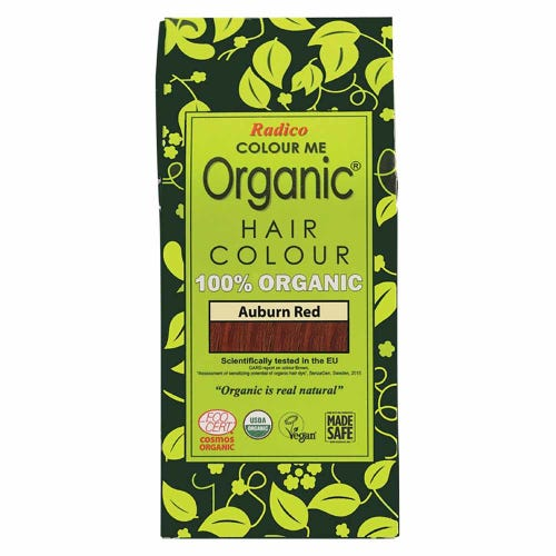 Colour Me Organic Hair Dye Auburn Red (100g)