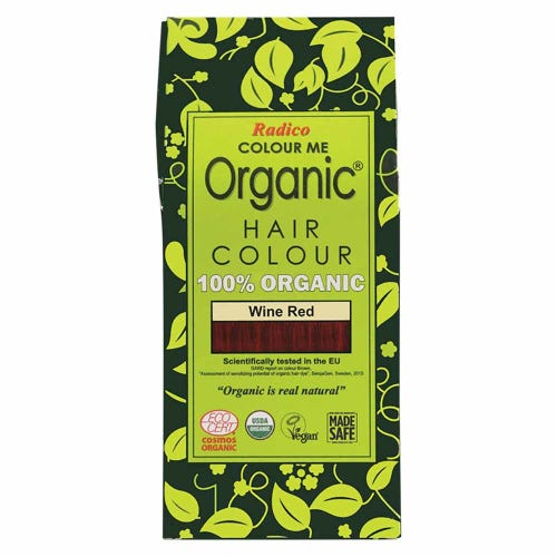 Colour Me Organic Hair Dye Wine Red (100g)