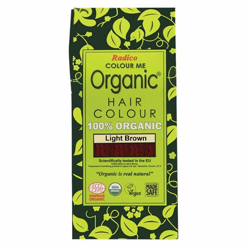 Colour Me Organic Hair Dye Light Brown (100g)