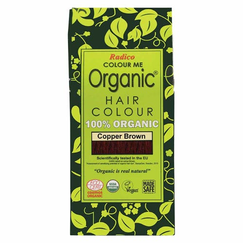 Colour Me Organic Hair Dye Copper Brown (100g)