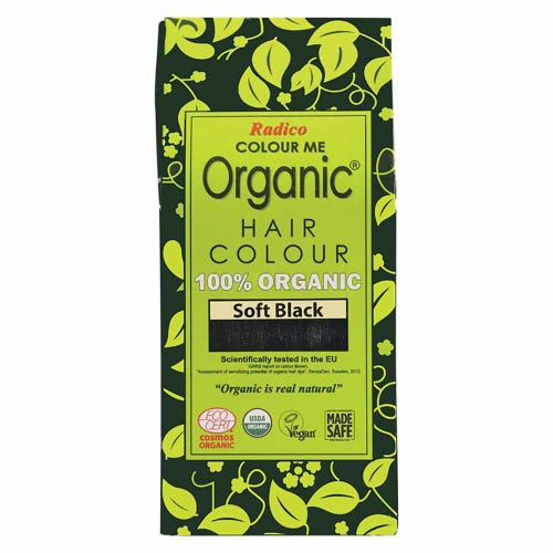 Colour Me Organic Hair Dye Soft Black (100g)