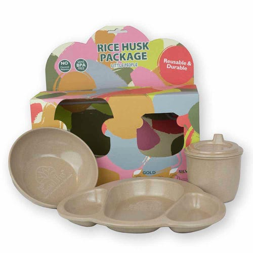 EcoSouLife Rice Husk Baby Dining Set - 3 Pieces