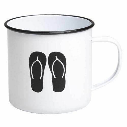 Retro Kitchen Enamel Mug - Thongs