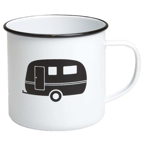 Retro Kitchen Enamel Mug - Caravan