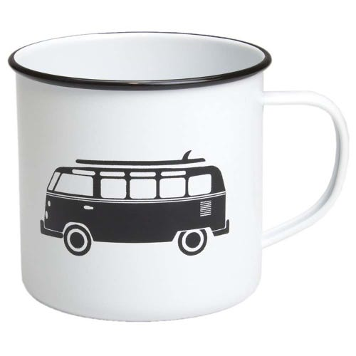 Retro Kitchen Enamel Mug - Combi Van