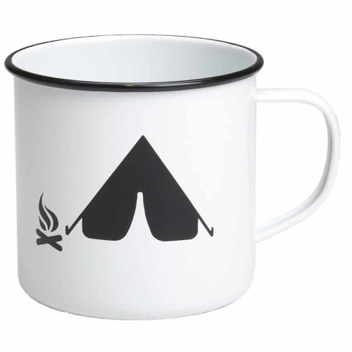 Retro Kitchen Enamel Mug - Camping