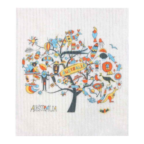 Retro Kitchen Biodegradable Dish Cloth Australia (1 Cloth)