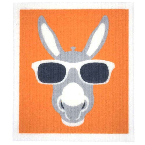 Retro Kitchen Biodegradable Dish Cloth Donkey (1 Cloth)