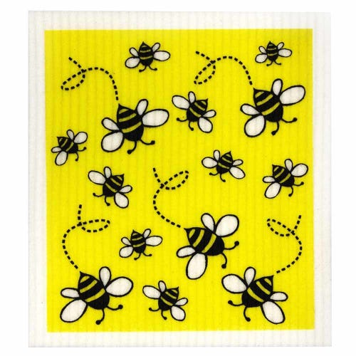 Retro Kitchen Biodegradable Dish Cloth Bees (1 Cloth)