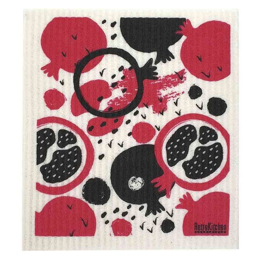 Retro Kitchen Biodegradable Dish Cloth Pomegranate (1 Cloth)