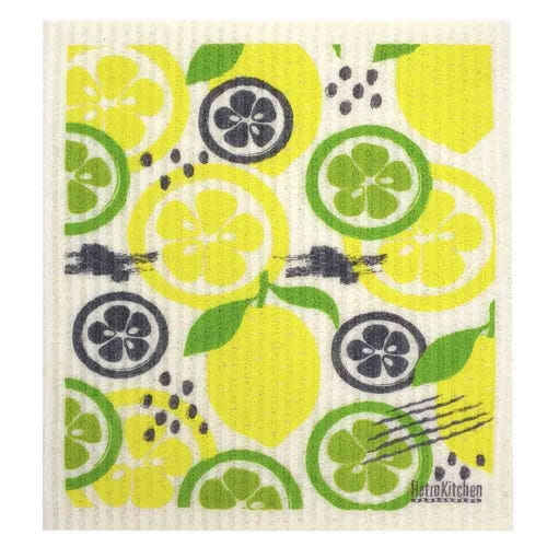 Retro Kitchen Biodegradable Dish Cloth Lemon & Lime (1 Cloth)
