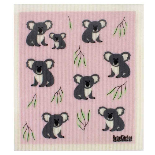 Retro Kitchen Biodegradable Dish Cloth Koalas (1 Cloth)