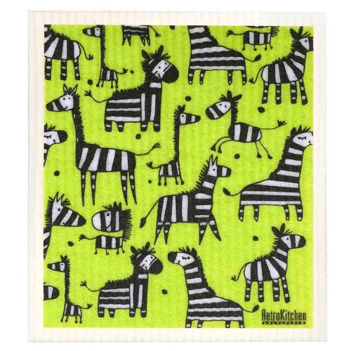 Retro Kitchen Biodegradable Dish Cloth Zebra (1 Cloth)