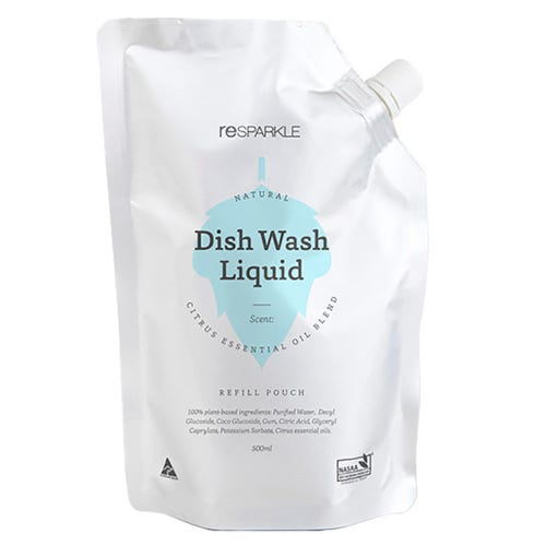 Resparkle Dish Wash Liquid Refill Pouch (500ml)