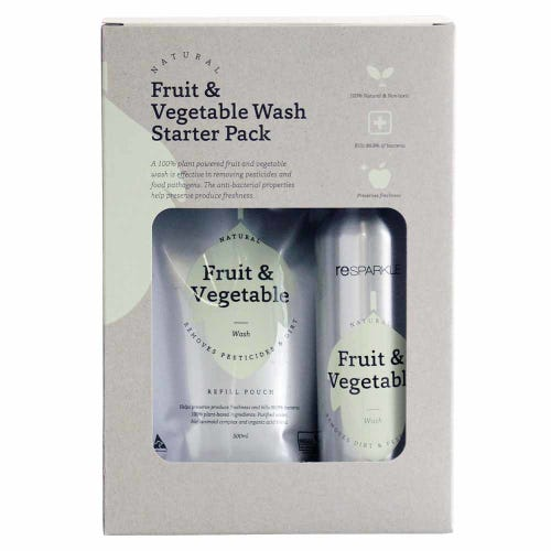Resparkle Natural Fruit & Veg Wash Starter Pack