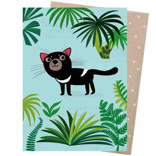 Earth Greetings Blank Card - Cheeky Devil