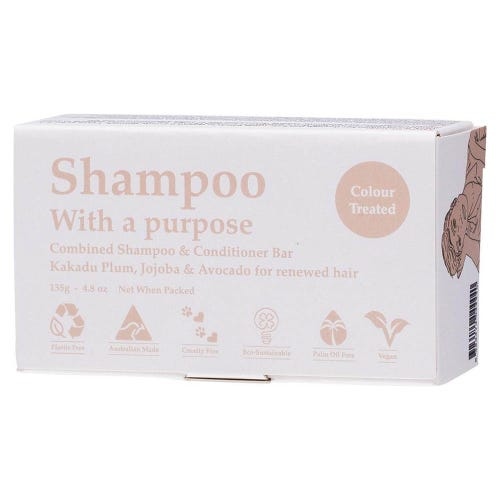 Shampoo With A Purpose - Colour Treated Shampoo/Conditioner Bar (135g)