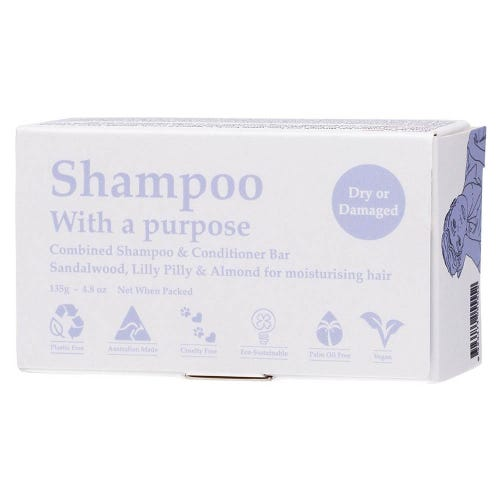Shampoo With A Purpose - Dry or Damaged Shampoo/Conditioner Bar (135g)
