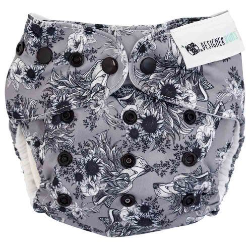 Designer Bums Reusable Nappy - She Wolf