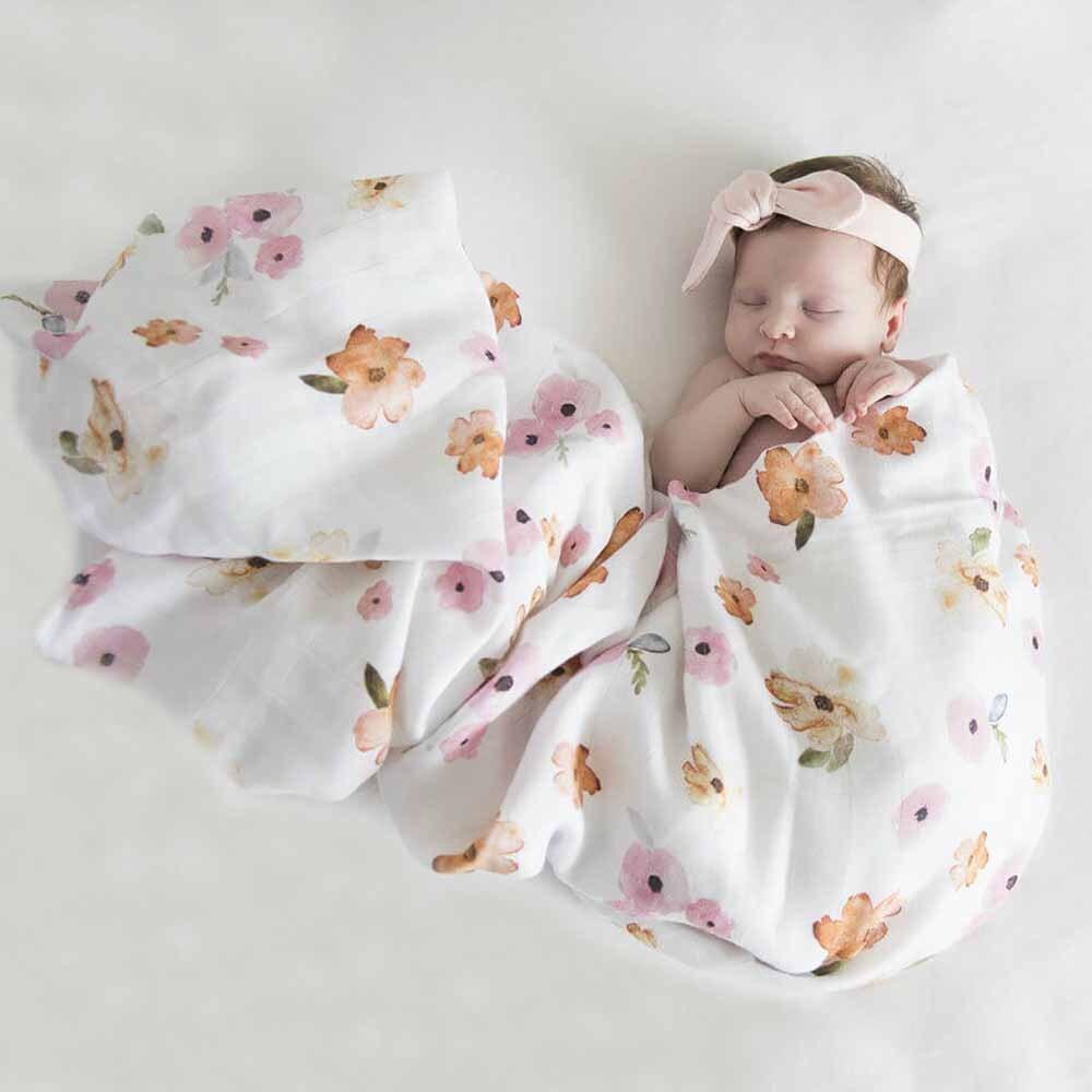 Snuggle Hunny Kids Organic Muslin Wrap - Poppy