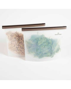 Green + Kind Silicone Pouch 1500ml 2 Pack | Flora & Fauna