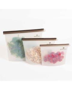 Green + Kind Silicone Pouch 3 Pack | Flora & Fauna