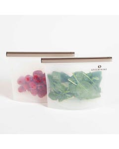 Green + Kind Silicone Pouch 500ml 2 Pack | Flora & Fauna