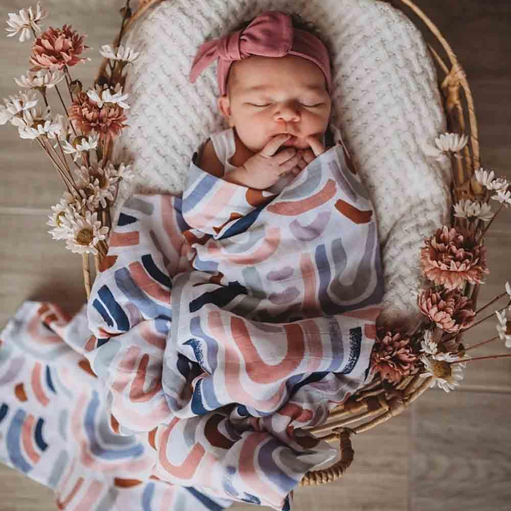 Snuggle Hunny Kids Organic Muslin Wrap - Rainbow Baby