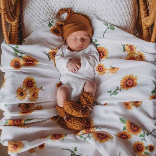 Snuggle Hunny Kids Organic Muslin Wrap - Sunflower