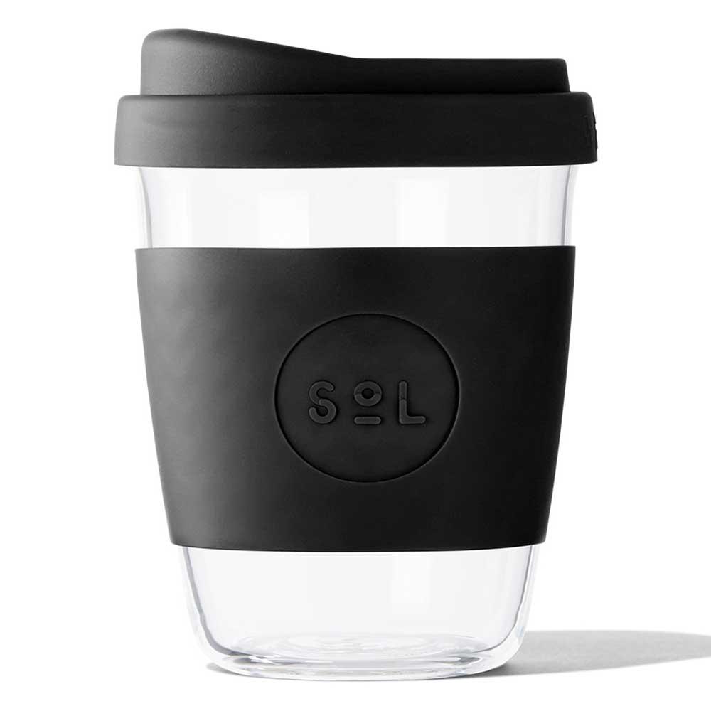 SoL Reusable Glass Cup Basalt Black (12oz)