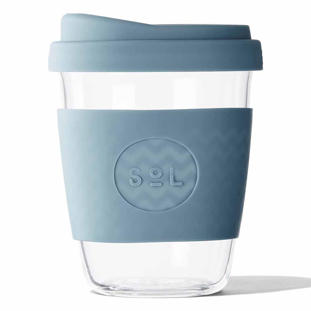 SoL Reusable Glass Cup Blue Stone (12oz)
