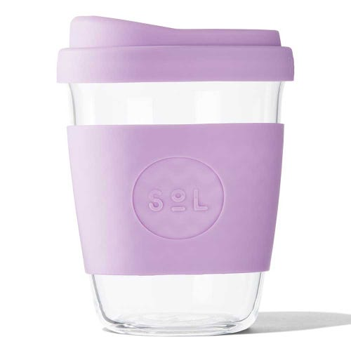 SoL Reusable Glass Cup Lovely Lavender (12oz)