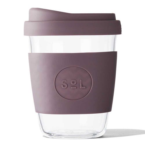 SoL Reusable Glass Cup Mystic Mauve (12oz)